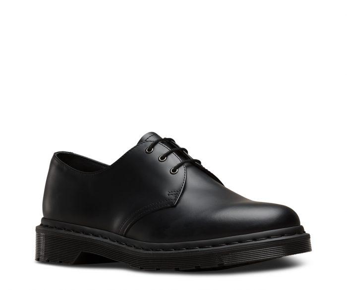 1461 Mono Black Smooth